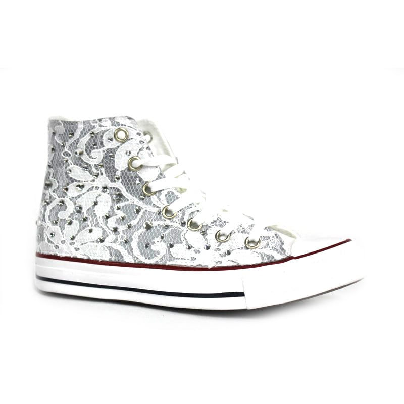converse all star pizzo bianco