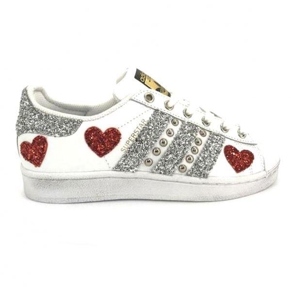 adidas superstar, adidas glitter, adidas personalizzate, adidas superstar personalizzate, superstar personalizzate, adidas borchie