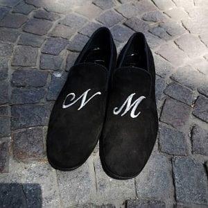 mocassino personalizzato, mocassini personalizzati lettere, mocassini velluto personalizzati