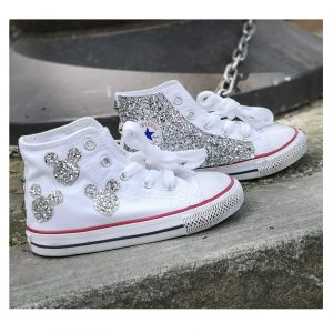 CONVERSE BABY GLAMOUR BIANCO