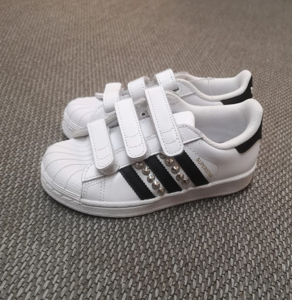 adidassuperstar - iòlcalzolaioshop - adidascustomizzate - Adidas Superstar CF I, Scarpe Primi Passi Unisex -